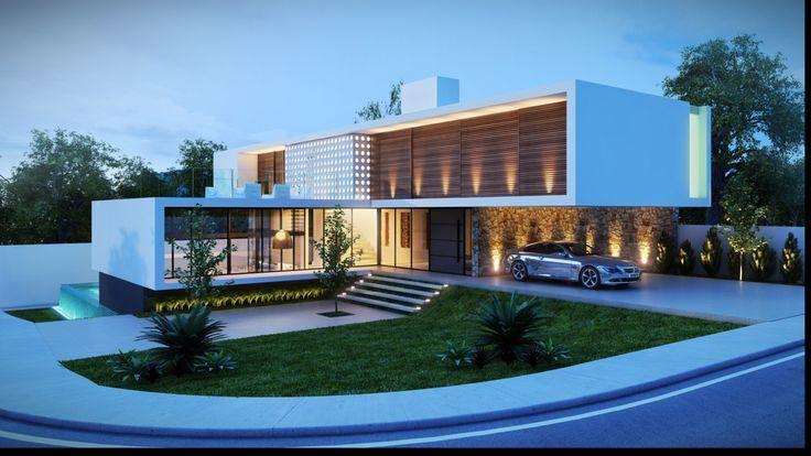 Fantasticas ideas para fachadas de casas houses for Casa moderna walferdange