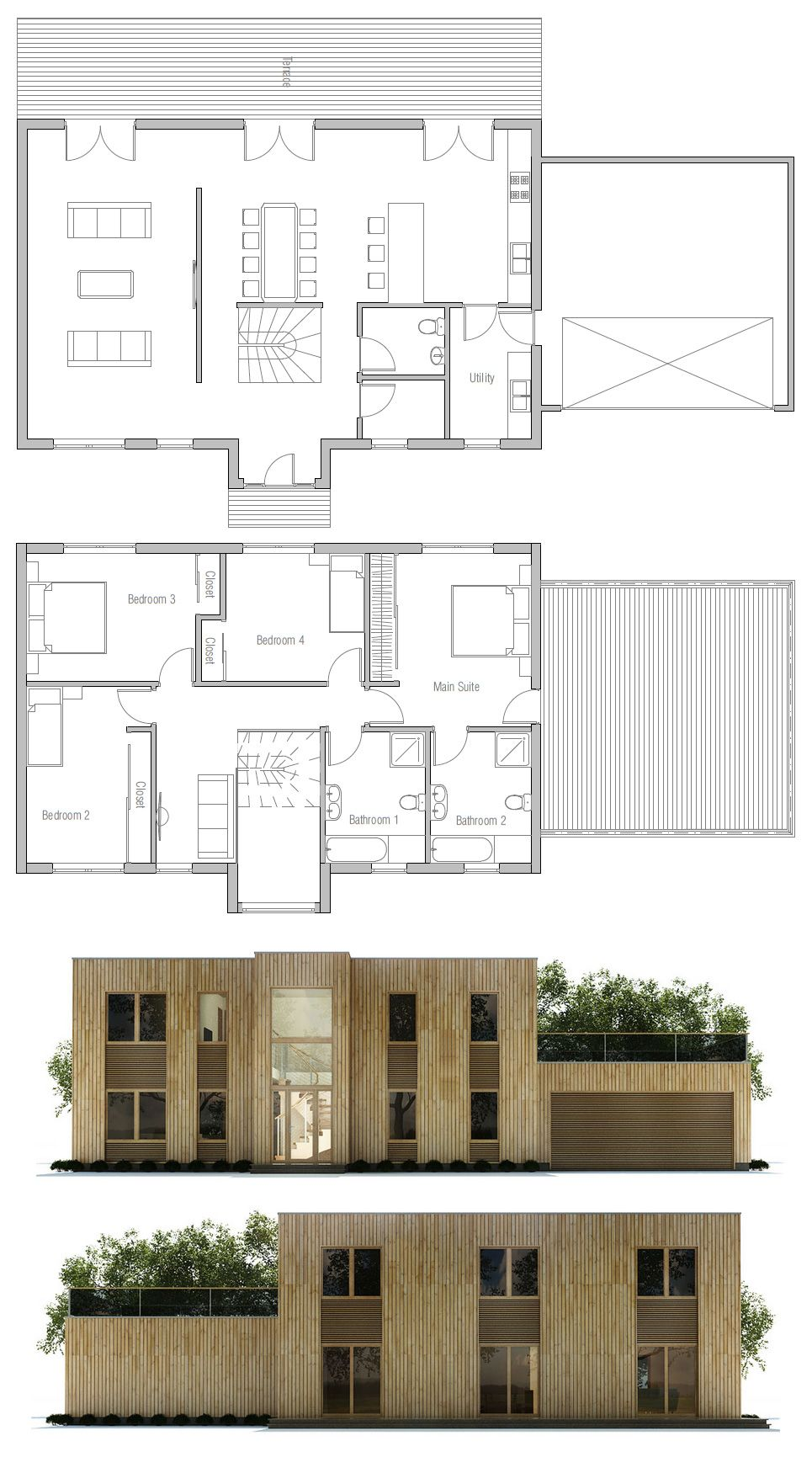 Beautiful House Plan CH375. Haus GrundrisseInnen ...