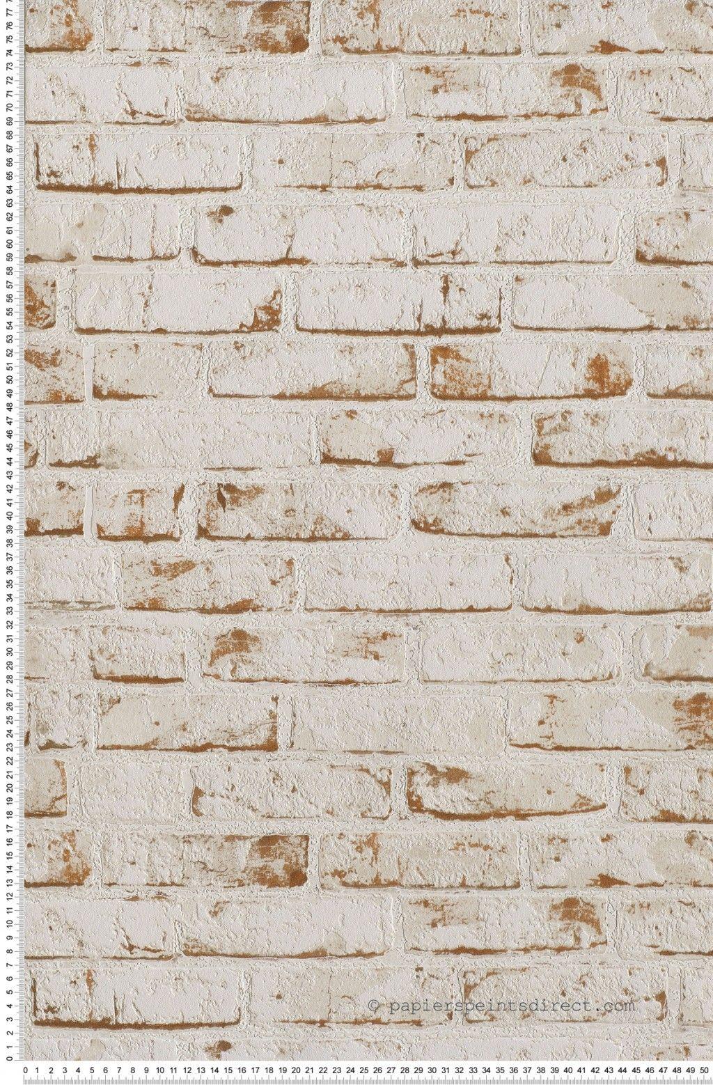 Papier Peint Briques Blanches Et Brique Collection New England