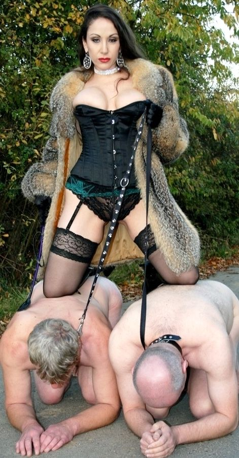Dominatrix femdom on own son