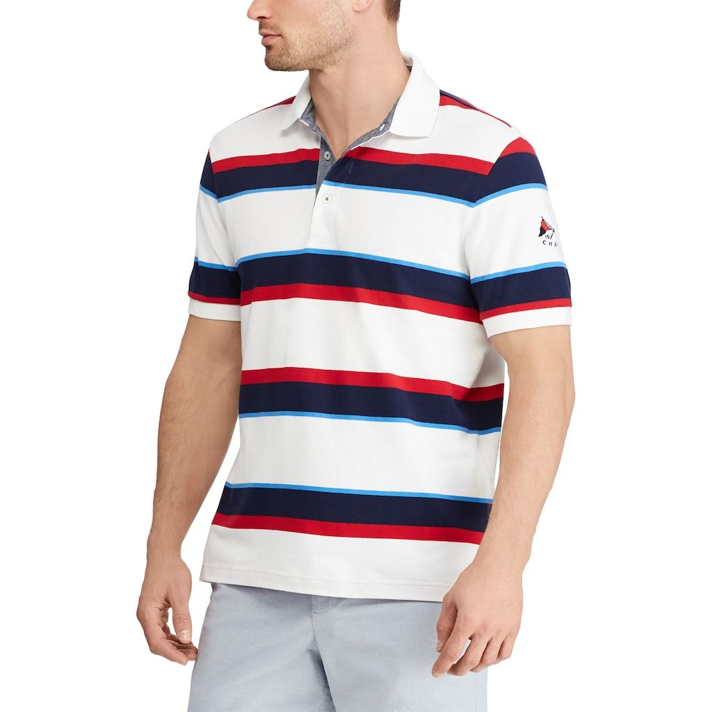 5d524768 Men's Chaps Classic-Fit Striped Americana Polo | Products | Mens ...