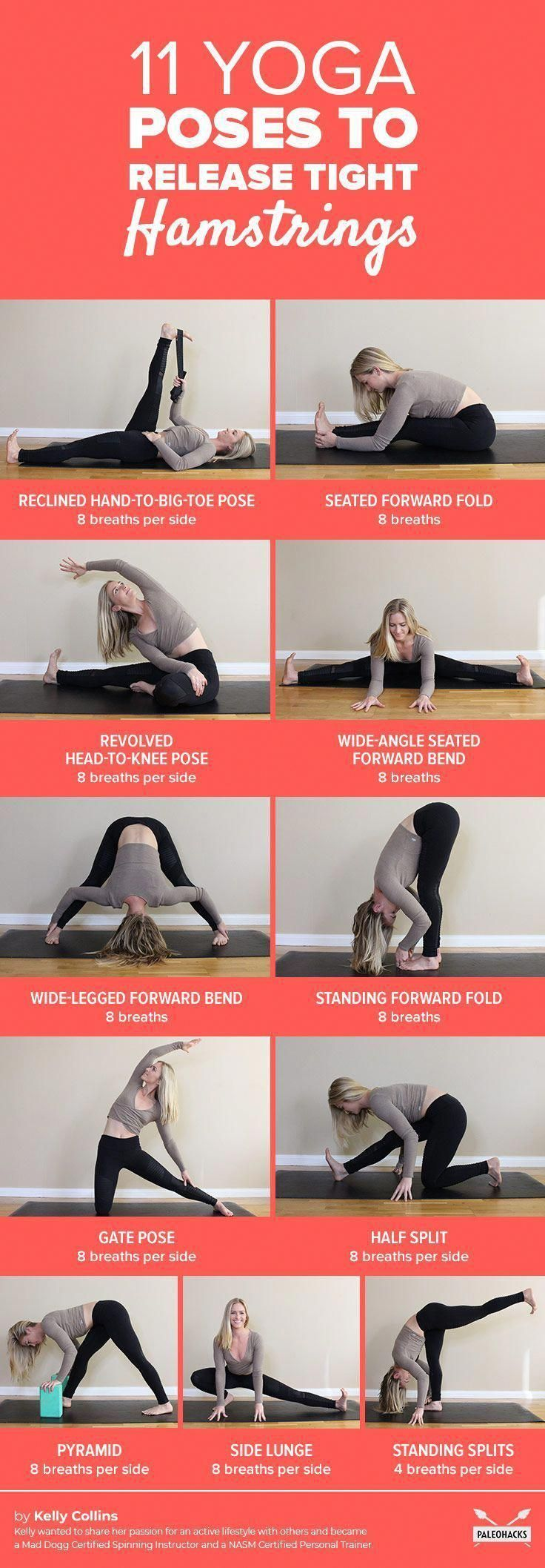 Poses to release tight hamstrings #Yogaposes #hamstrings #poses