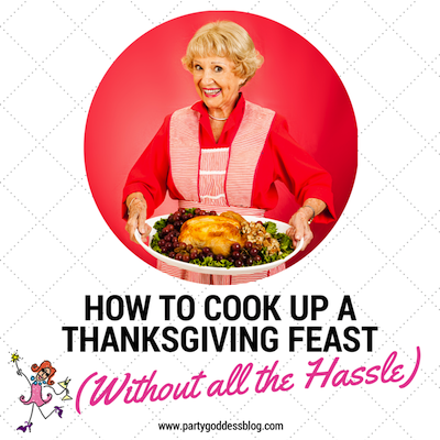 Turkey, stuffing, pies... And to think, that's only the beginning! This Thanksgiving, don't be INTIMIDATED by the feast that lies ahead! Tackle any tall order with these tips here: www.partygoddessblog.com