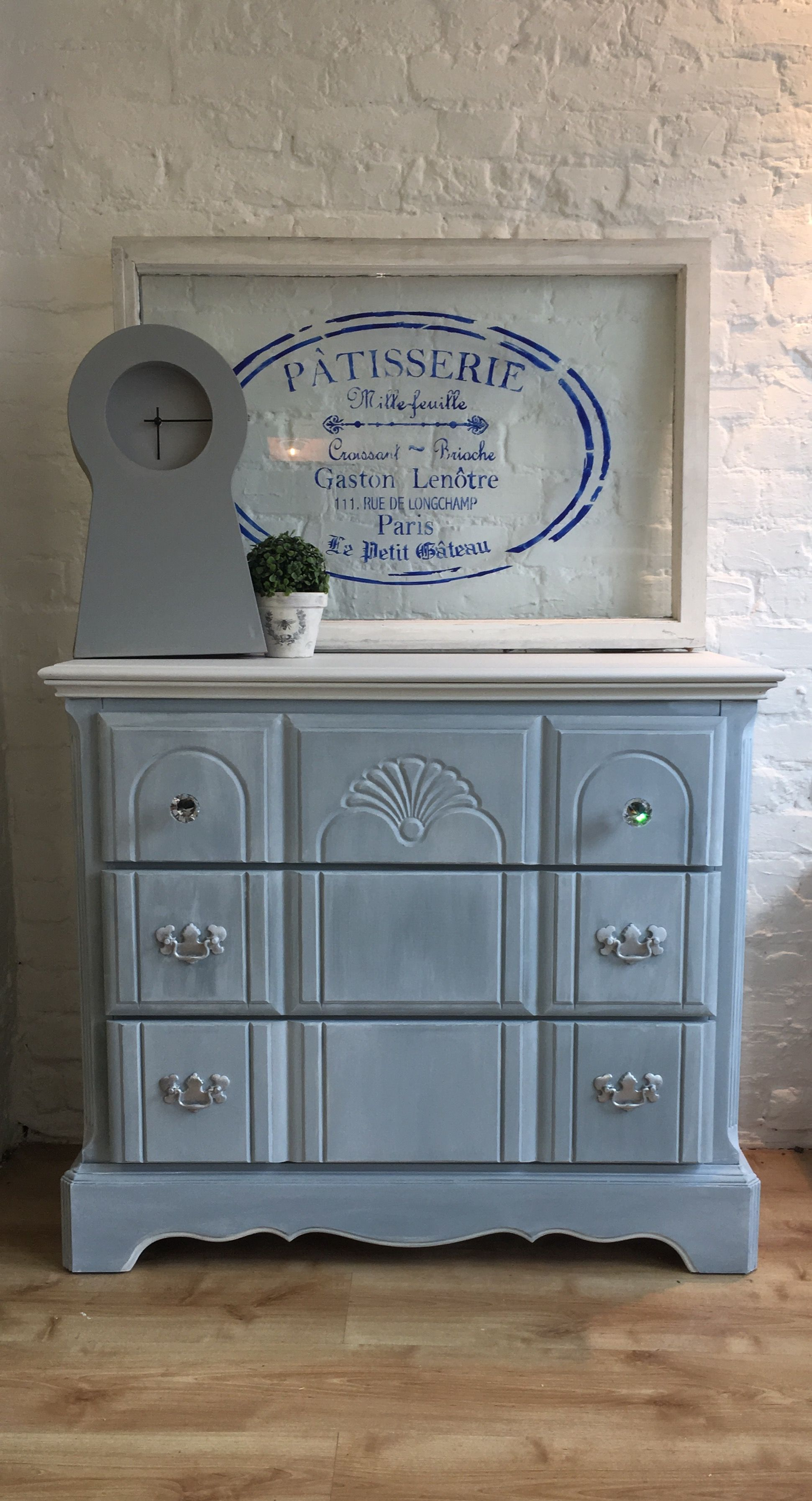 Three drawer chest of drawers in Autentico Chalk Paint, colour ...