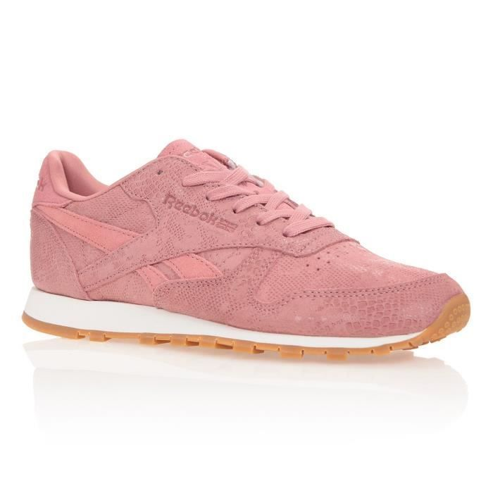 REEBOK Baskets Classic Leather Exotic – Femme – Rose