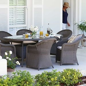milazzo rattan effect 6 seater garden furniture set home delivery