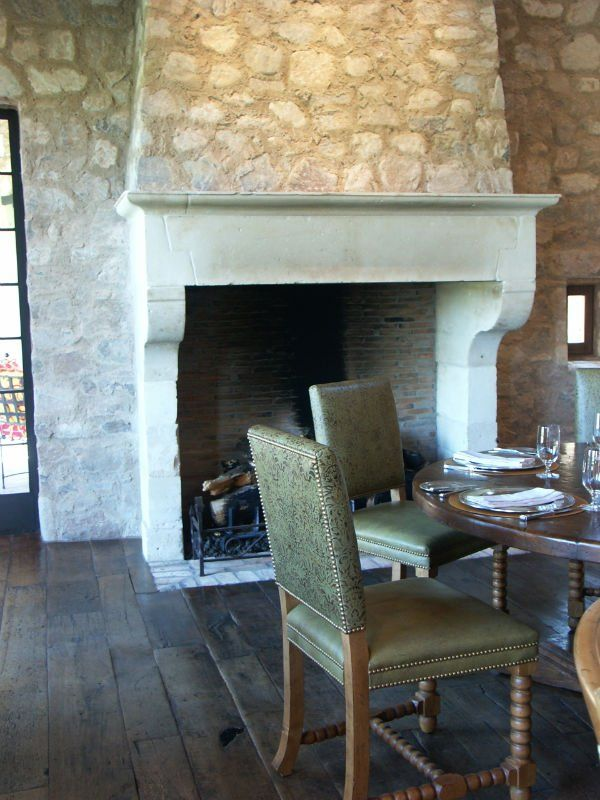 Stone fireplaces and Mantle