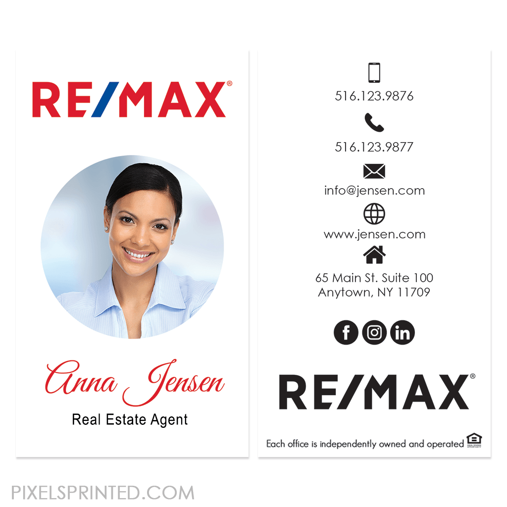 REMAX business cards, REMAX realtor cards, REMAX broker business cards, realtor business cards, broker business cards, real estate business cards