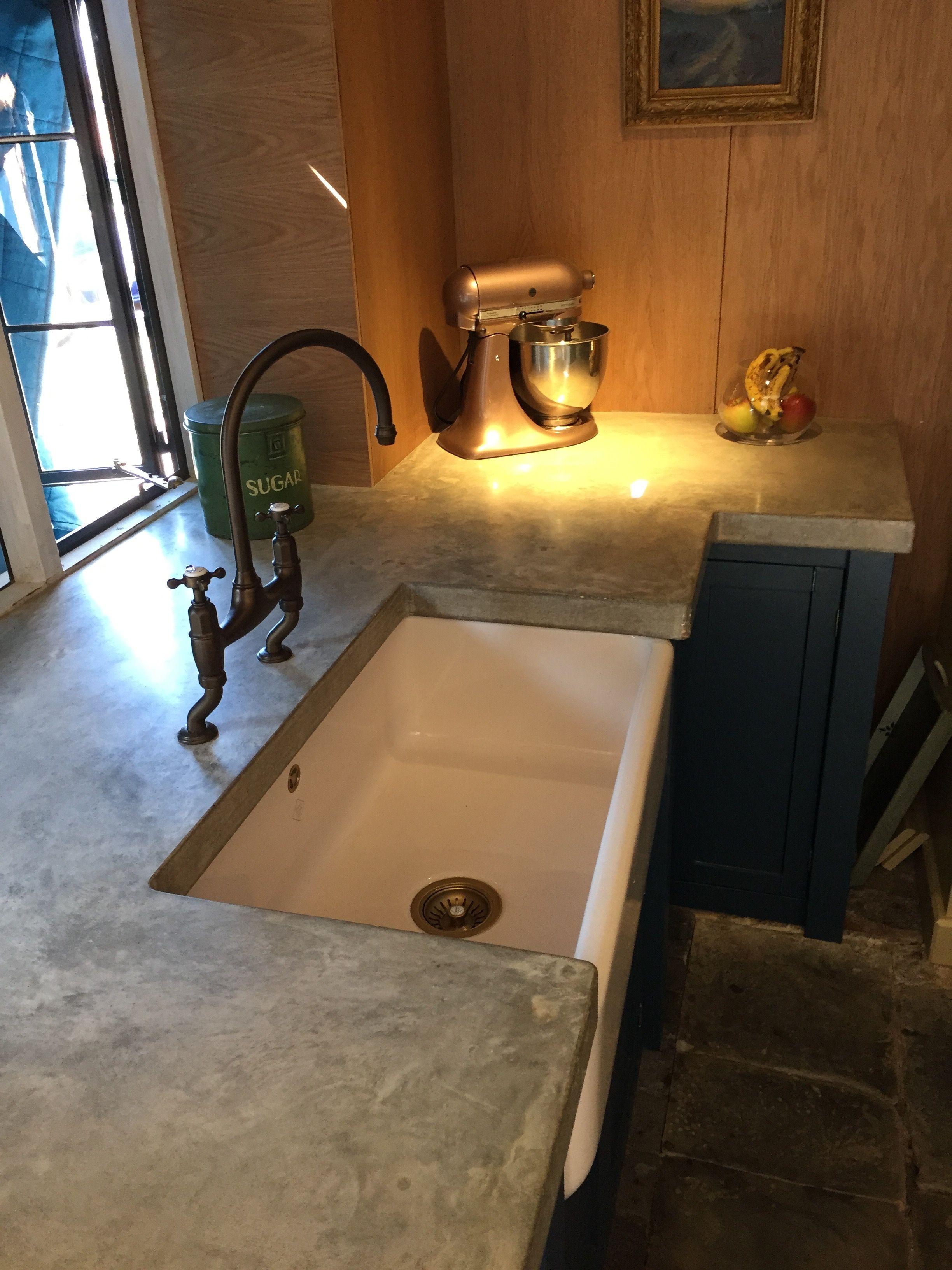 polished concrete worktops cast. Black Bedroom Furniture Sets. Home Design Ideas