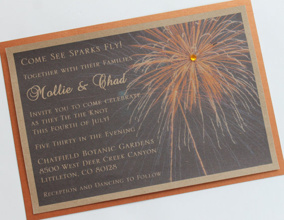 Rustic 4th of July Firework Wedding by atouchofsunshine1 on Etsy, $2.50