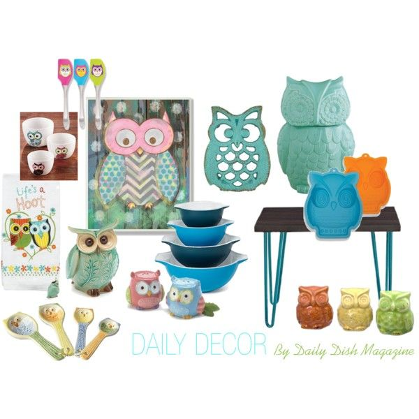 High Quality OWL THEMED KITCHEN DECOR By Busyvegetarianmom On Polyvore Featuring  Interior, Interiors, Interior Design,