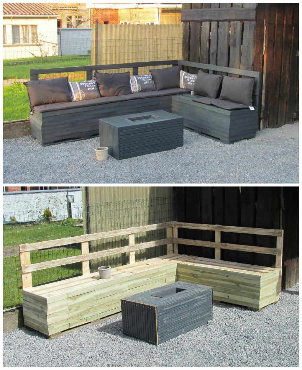 Pallet Garden Sofa | palets | Pinterest | Pallet, Pallets garden and ...