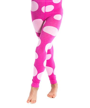 Another great find on #zulily! Pink Polka Dot Leggings - Toddler #zulilyfinds