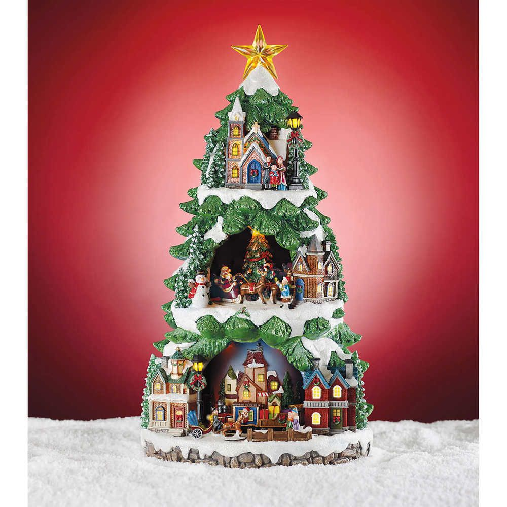 Christmas Holiday Led Musical Animated Tree 8 Songs Table Top Mantle Display New Unbrande Animated Christmas Tree Led Christmas Tree Animated Christmas Lights