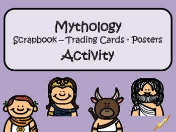 Greek Mythology Scrapbook Trading Cards Posters Activity Mythology Word Activities Greek Mythology