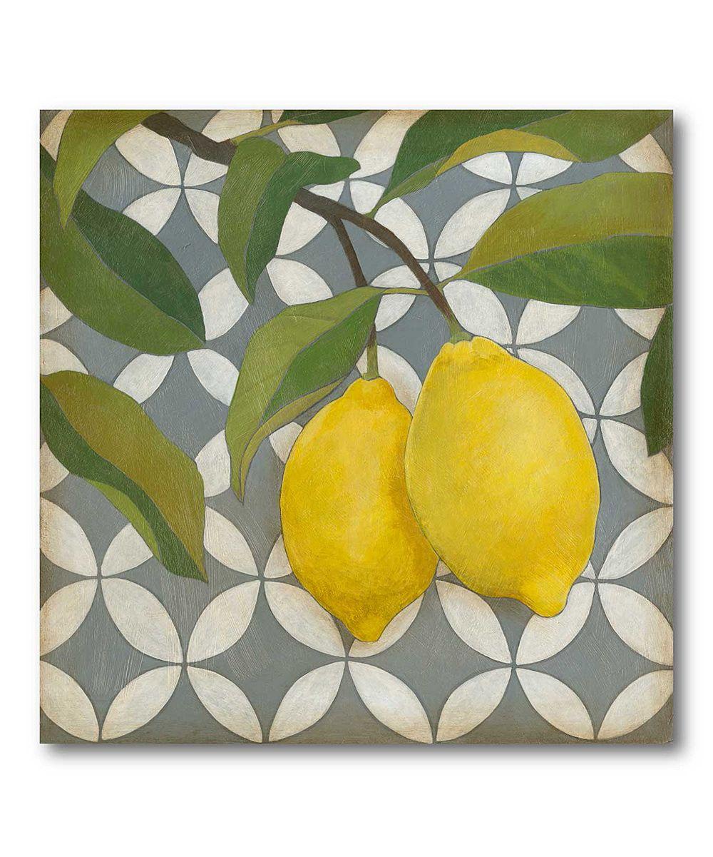 Lemons Canvas Wall Art Zulily Art Canvas Art Canvas Wall Art