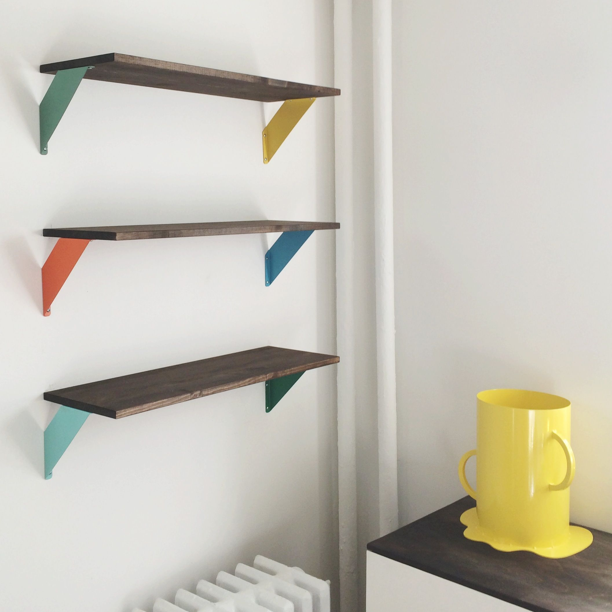 IKEA shelves spray paint stain △ Home Sick △