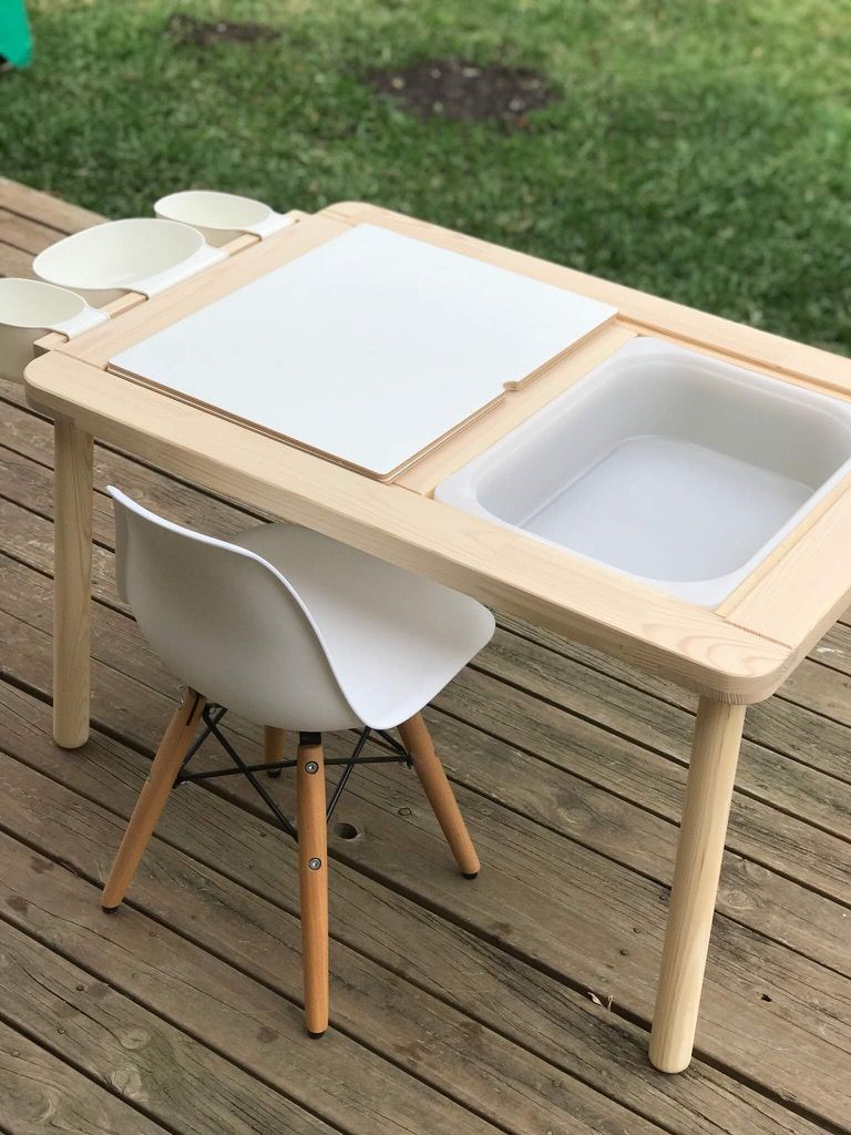 The Flisat Children S Table Is Quite A Smart Little Thing Open Them Up And You Ll Fit 2 Trofast Storage Bo Snug Under Top Of