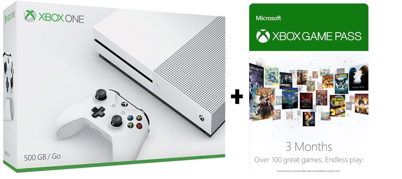 Details about Microsoft Xbox One S - 500GB Console (White