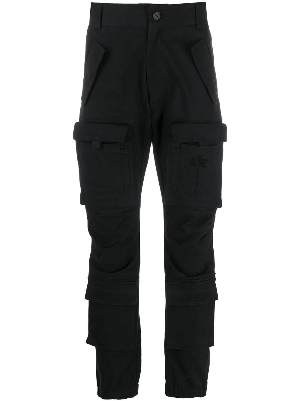 Palm Angels Slim Leg Denim Cargo Pants Farfetch Denim Cargo Pants Cargo Pants Women Black Cargo Pants