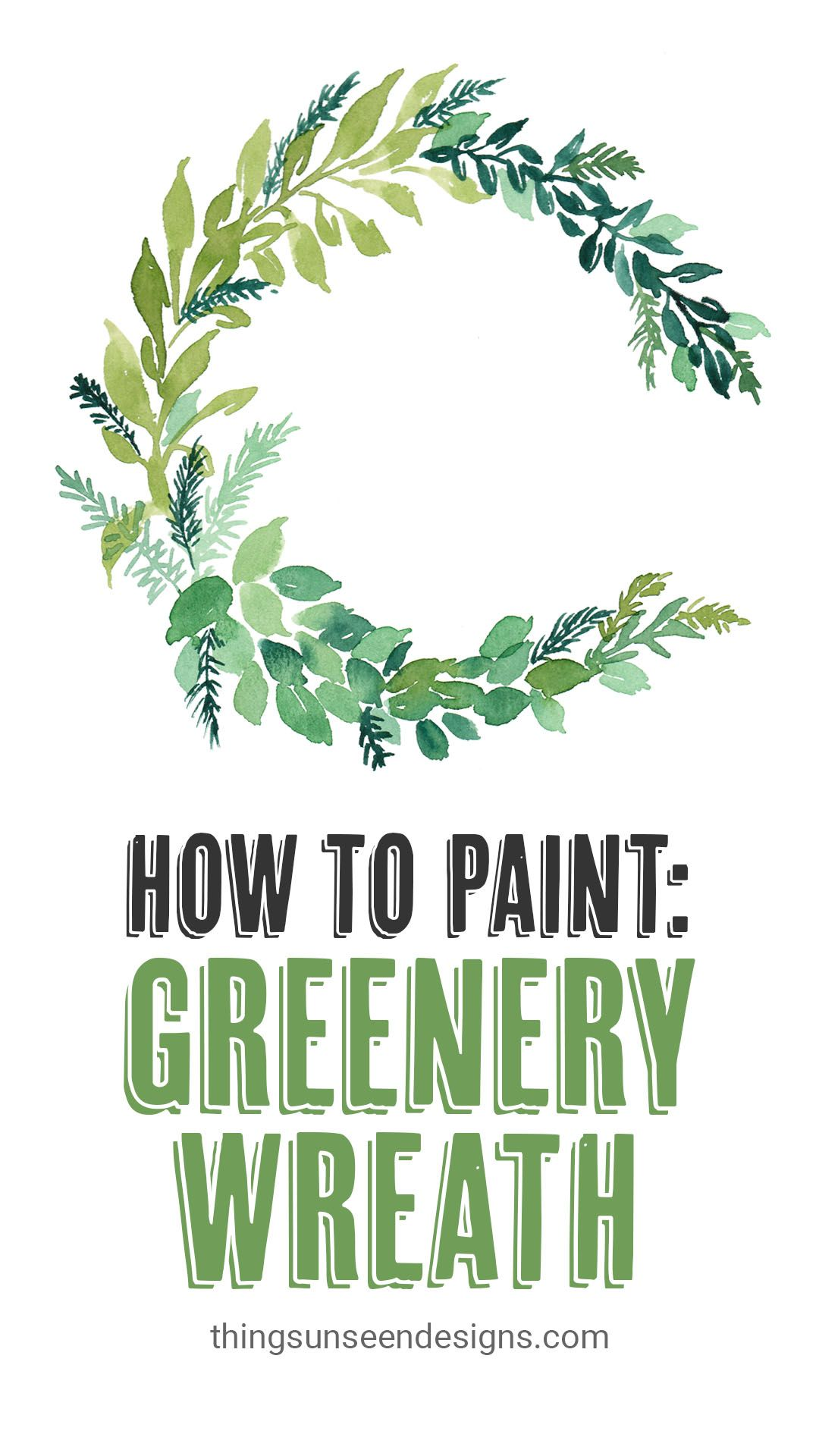 Photo of How to Paint: Watercolor Greenery Wreath