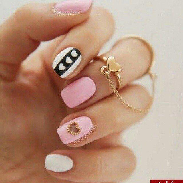 Decoración de uñas fácil!! #bellezaviral #mujer #estilo ...