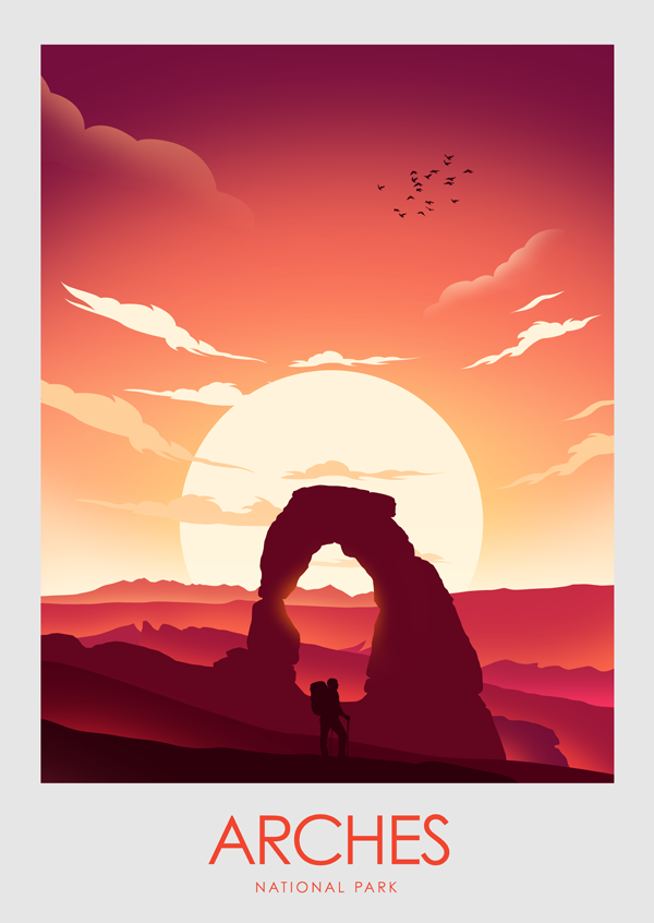 Arches National Park Poster Print Nationalparkutah Arches National Park Poster Print National Park Posters Poster Prints Park Art