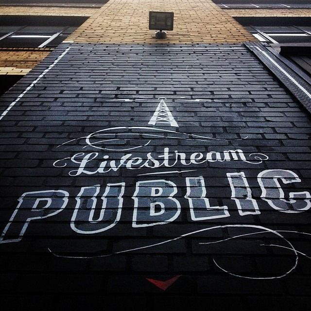Livestream Public Wall Mural By Noentrydesign Creative TypographyTypography LogoGraphic Design