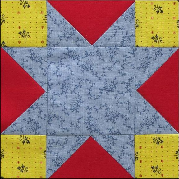 Civil War Quilts: Stars in a Time Warp 36: Lancaster blue and Greek Keys