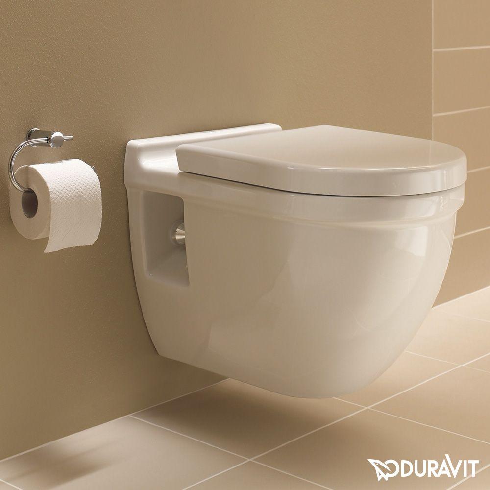 Duravit Starck 3 Wall-mounted, washdown toilet L: 54 W: 36 cm white ...