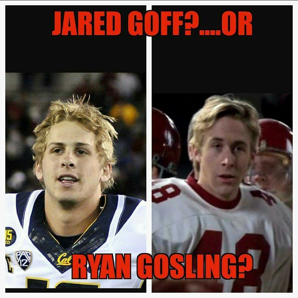 Pin By Abagail Tubville On Sports 3 Jared Goff Ryan Gosling Historical Figures