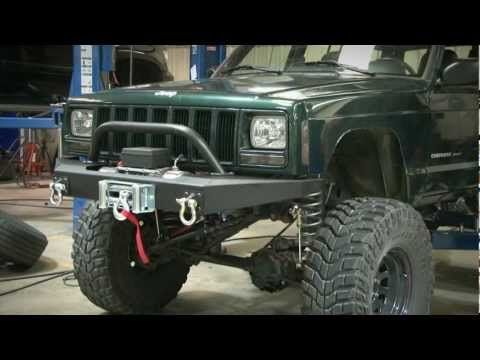 Jeep Cherokee Xj Winch Bumper By Rough Country Youtube Jeep