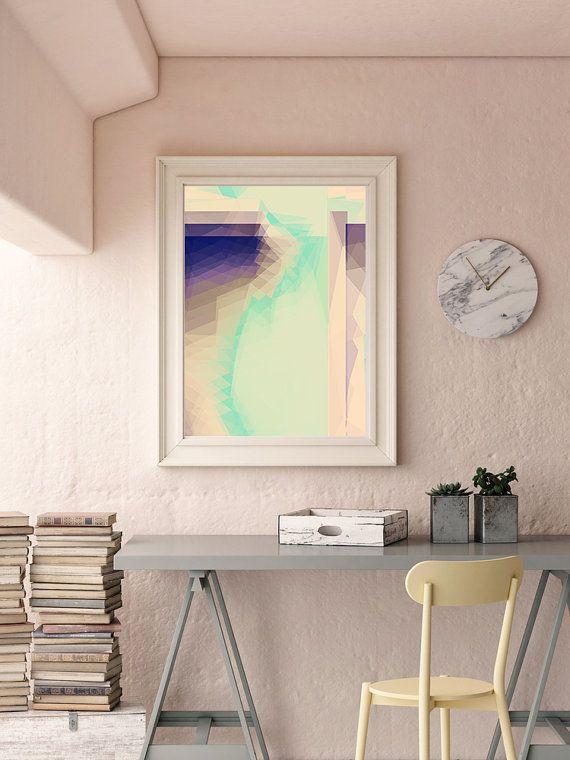 Homemade Home Decor · Modern Mid Century, Zen Poster, Zen Prints, Pastel Art,  Geometric Art,