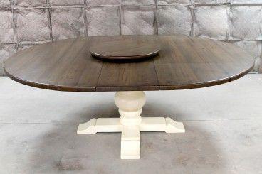 68 Round Extension Farm Table Ecustomfinishes Dining Table Round Extension Table Extension Dining Table Round dining table with extensions