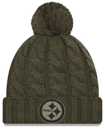 f26d9a4a2 New Era Women s Pittsburgh Steelers Salute To Service Pom Knit Hat - Green  Adjustable