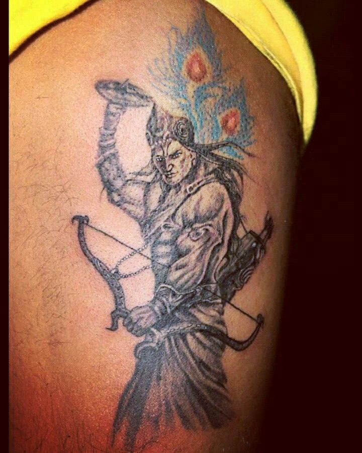 e491303ef Lord Krishna tattoo design | Our tattoo's work in 2019 | Krishna ...