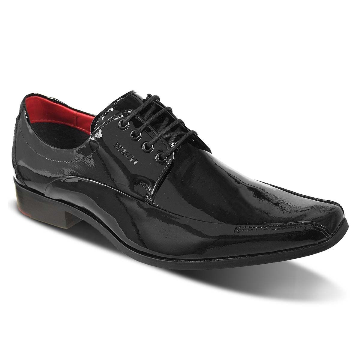 e29fbefcb Sapato Londres Pre 2810-223H Tipo: Derby Cor: Verniz Preto Estilo: Social  Marca: Ferracini