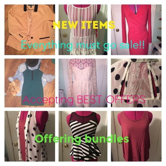 EVERYTHING MUST GO☄✨ Submit your best offer or ask for a bundle!  Every item comes from a SMOKE FREE HOME  and SHIPPED WITH CARE . Some items are lightly worn. Some are NEVER WORN! Shop my closet! If you see something you like, submit your best offer. I am also able to bundle multiple items!  Remember , EVERYTHING MUST GO!!! ✨✨☄ Other