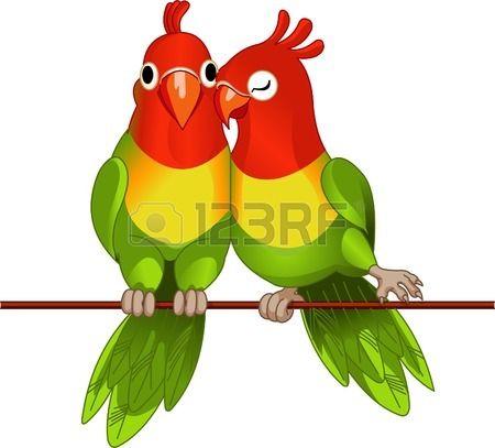 twee lovebirds agapornis fischeri op wit иллюстрации