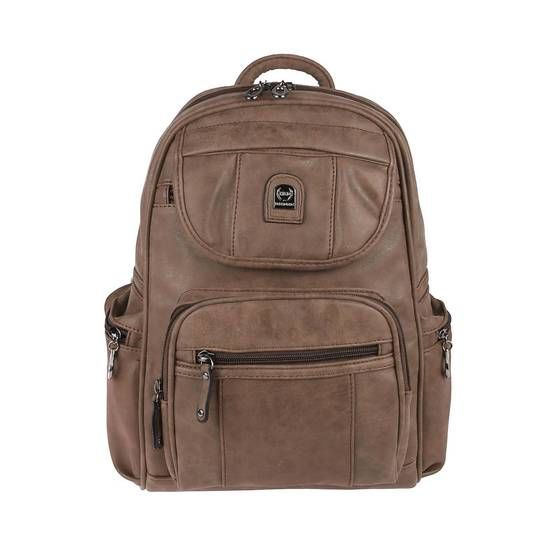 Photo of Women Backpack Bag Backpack Daypack Leather Look City Backpack City Backpack Shoulder Bag Daypack Dark Brown