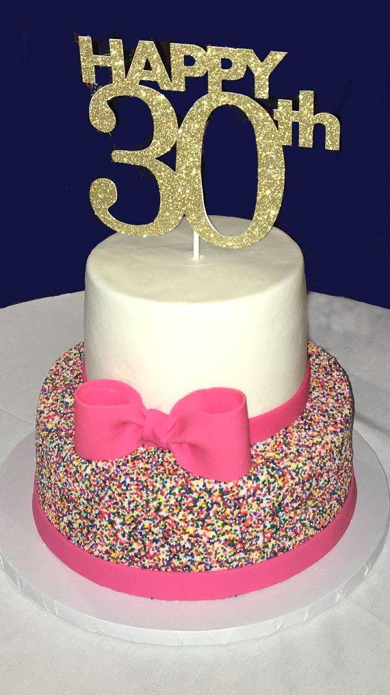 30th birthday cake topper 30th cake topper 30 birthday for 30th birthday cake decoration