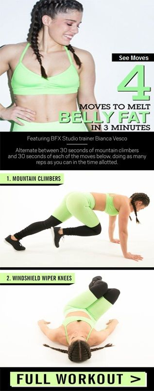 A 3-Minute Workout That Burns Belly Fat