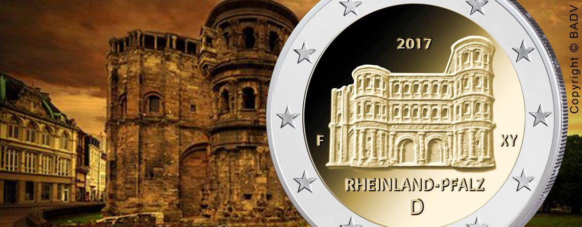 Brd 2 Euro Gedenkmünze 2017 Serie Bundesländer Rheinland Pfalz