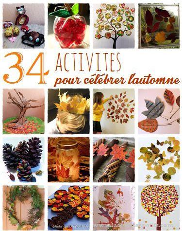 34 bricolages d 39 automne faire avec les enfants en automne bricolage automne bricolage et. Black Bedroom Furniture Sets. Home Design Ideas