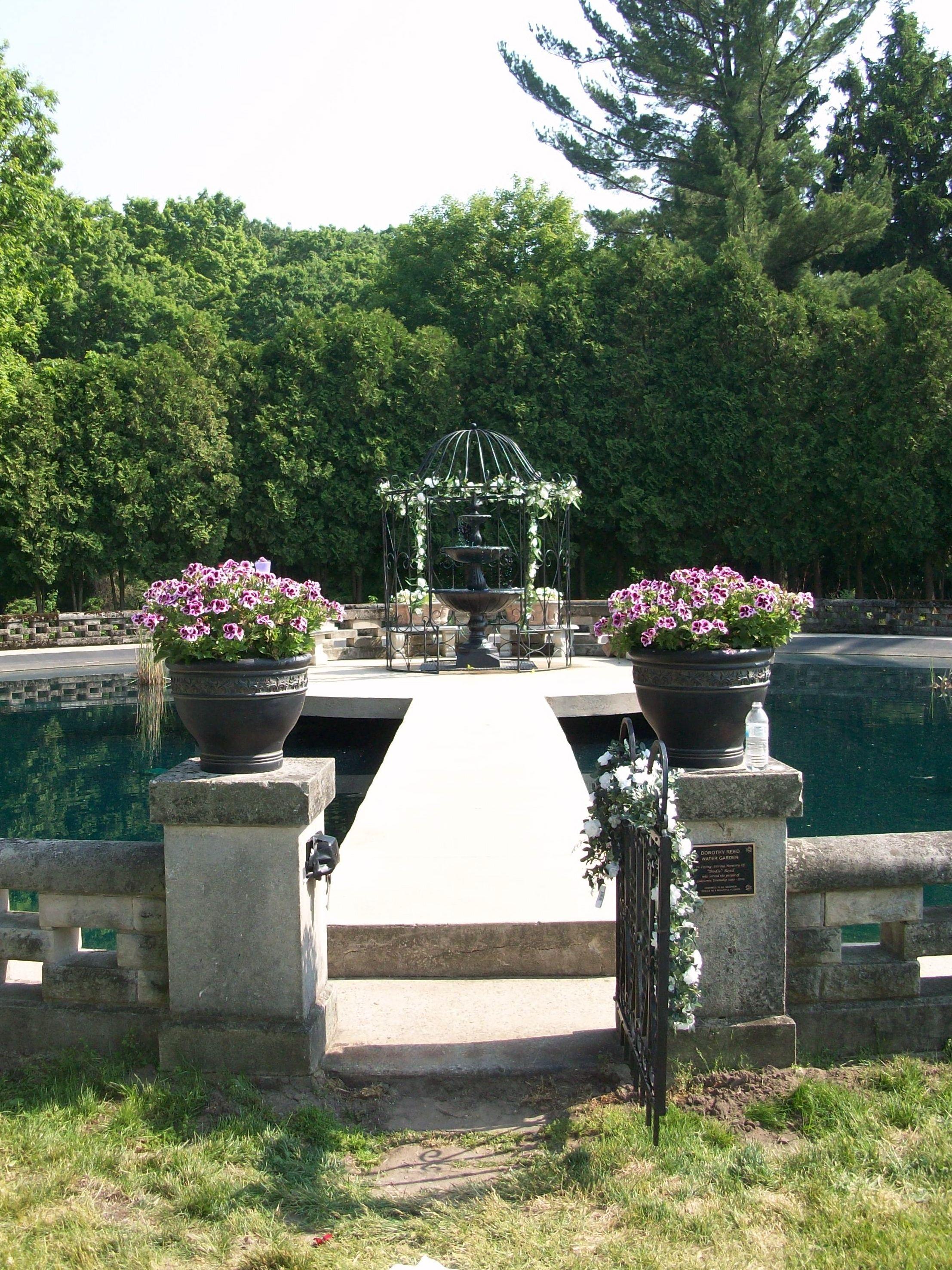 Beautiful water garden at the Felt Mansion FeltMansion