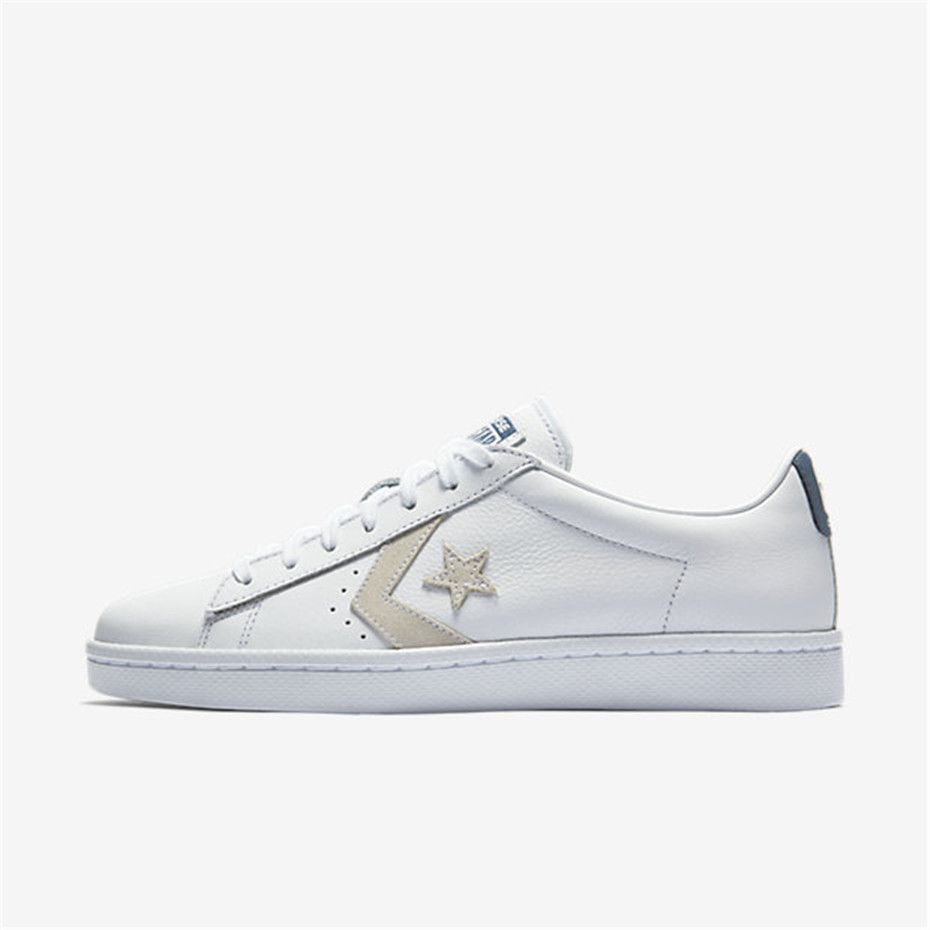 NIKE Converse Pro Leather Low Top (White   White   Navy)  2cd747dbb