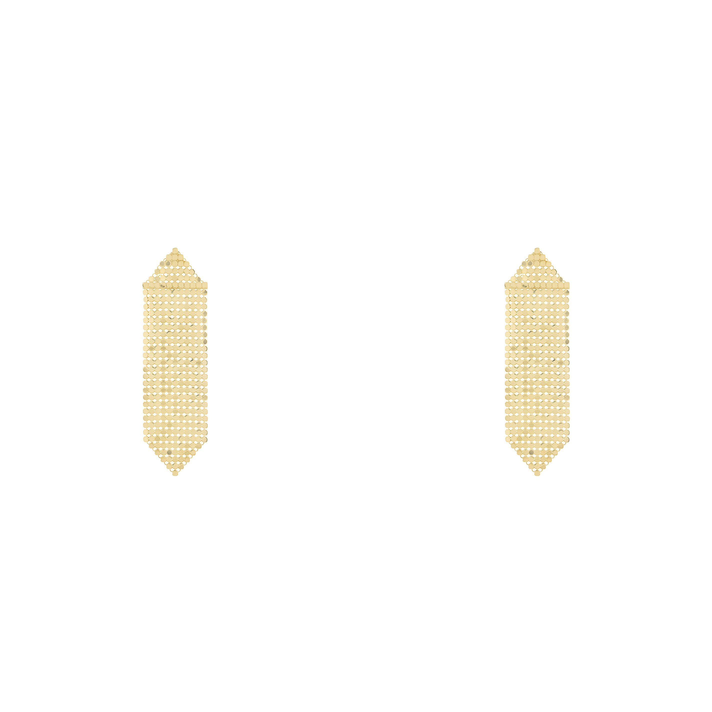 Gold Mesh Earrings
