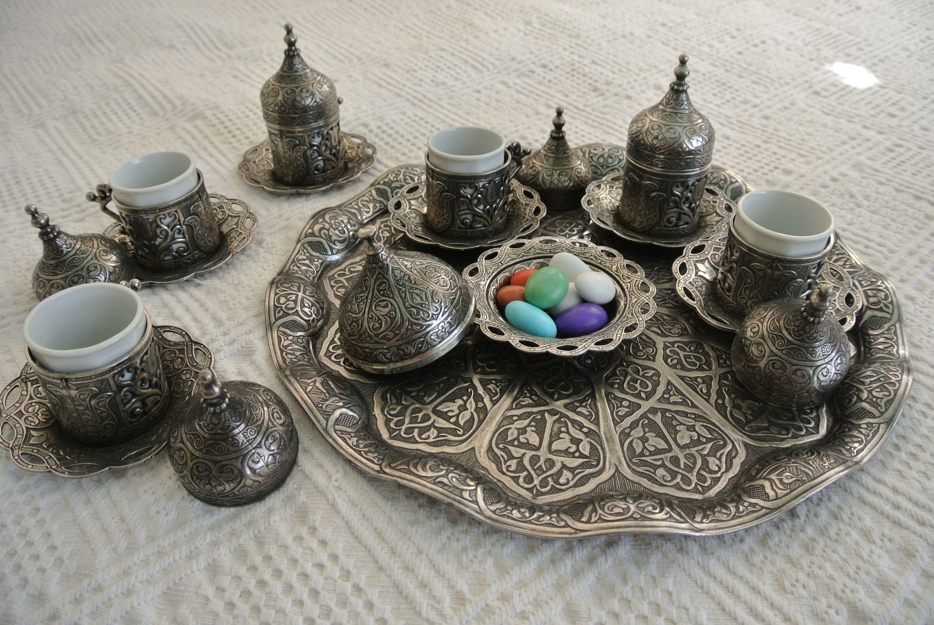 Details about TURKISH COFFEE SET Mugs Porcelain Cups Bowl