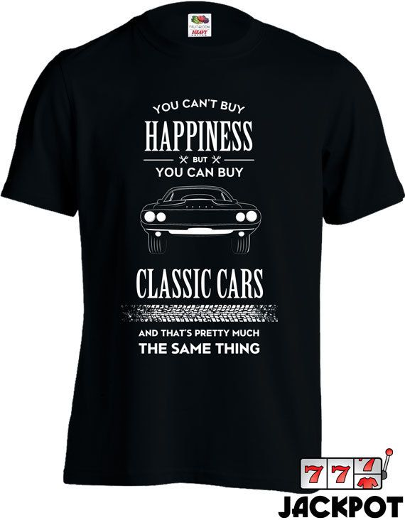 816ba566a75 Funny Car Shirt You Can t Buy Happiness But You Can Buy Classic Cars T  Shirt Car Gifts Joke Mens Tee MD-447A