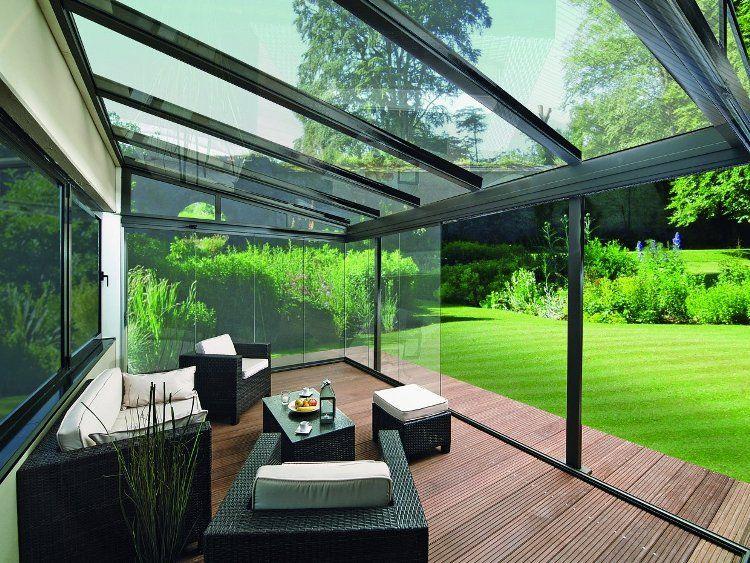 Baie vitrée pour la terrasse- fermez la terrasse et ouvrez lu0027esprit
